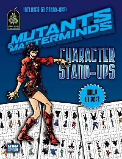Role Playing Games - Mutants & Masterminds Character Stand-Ups