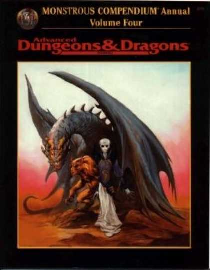 Role Playing Games - AD&D Monstrous Compendium Annual Volume 4