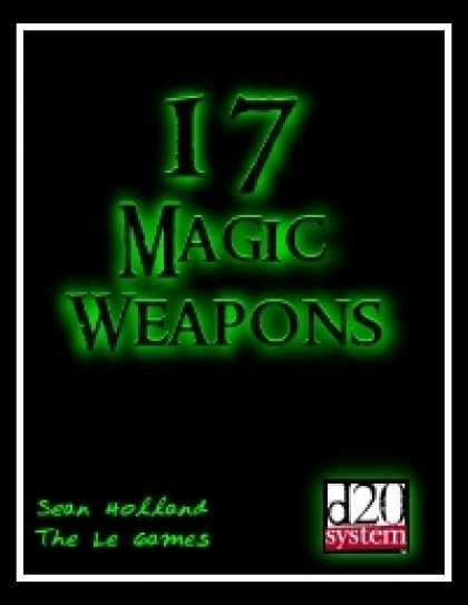 Role Playing Games - 17 Magic Weapons