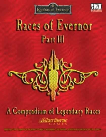 Role Playing Games - Races of Evernor (Part III)