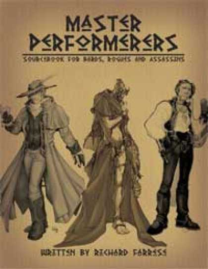 Role Playing Games - Master Performers: Sourcebook for Bards, Rogues and Assassins