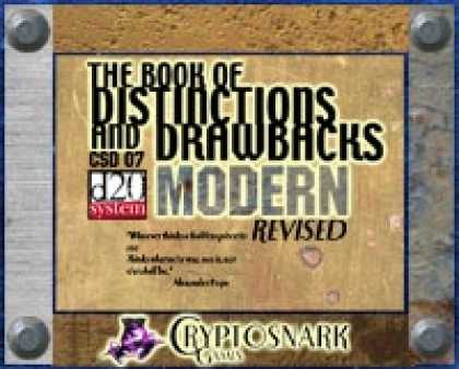 Role Playing Games - The Book of Distinctions & Drawbacks Modern
