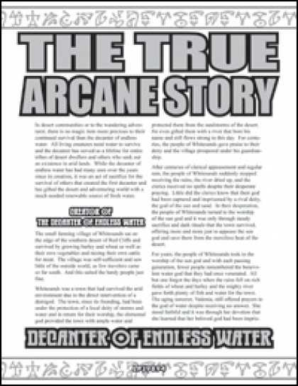 Role Playing Games - The True Arcane Story: Decanter of Endless Water