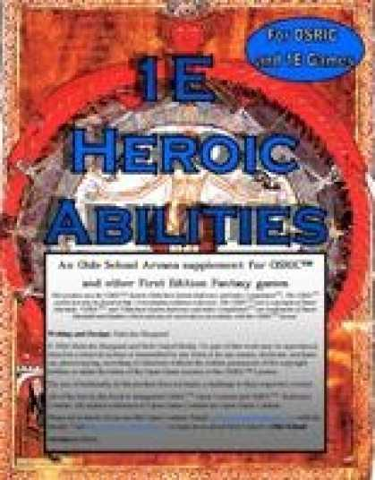Role Playing Games - 1E Heroic Abilities