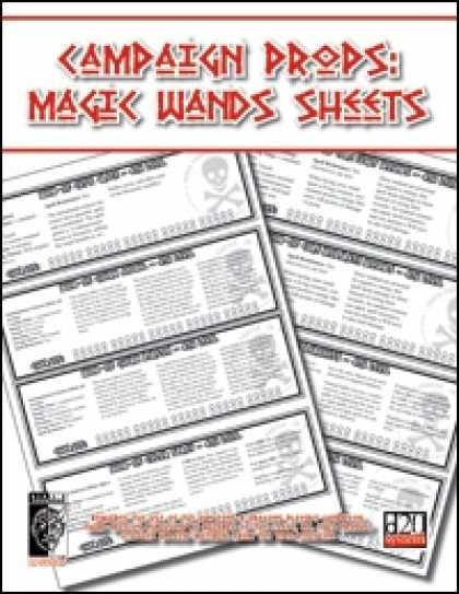 Role Playing Games - Campaign Props: Magic Wand Sheet