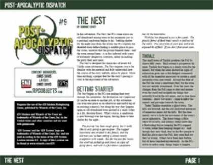 Role Playing Games - Post-Apocalyptic Dispatch (#9): The Nest