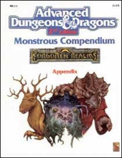 Role Playing Games - Monstrous Compendium - Forgotten Realms Appendix