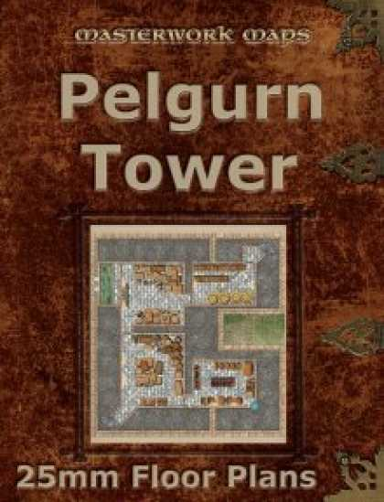 Role Playing Games - Pelgurn Tower Floor Plans (25mm square grid)