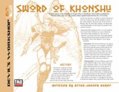 Role Playing Games - Lost Classes: Sword of Khonsu