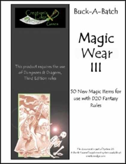 Role Playing Games - Buck-A-Batch: Magic Wear III