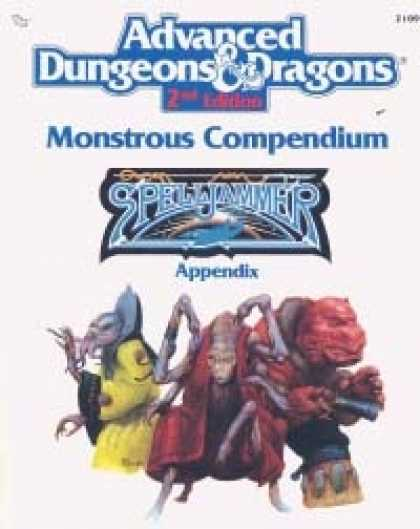 Role Playing Games - Monstrous Compendium - Spelljammer Appendix