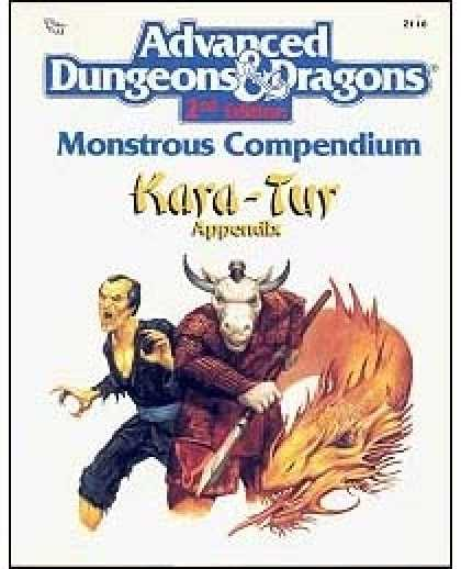 Role Playing Games - Monstrous Compendium - Kara-Tur Appendix