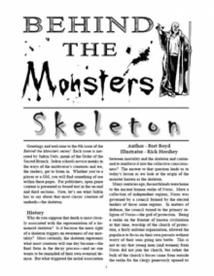Role Playing Games - Behind the Monsters: Skeleton