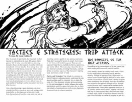 Role Playing Games - Tactics & Strategies: Trip Attack