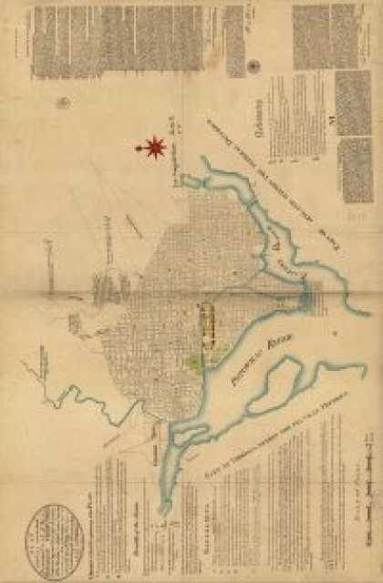 Role Playing Games - Antique Maps XXII - Washington DC in the 1700 & 1800's