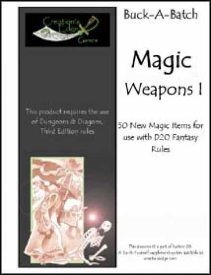 Role Playing Games - Buck-A-Batch: Magic Weapons I