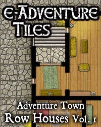 Role Playing Games - e-Adventure Tiles: Adventure Town - Row Houses Vol. 1