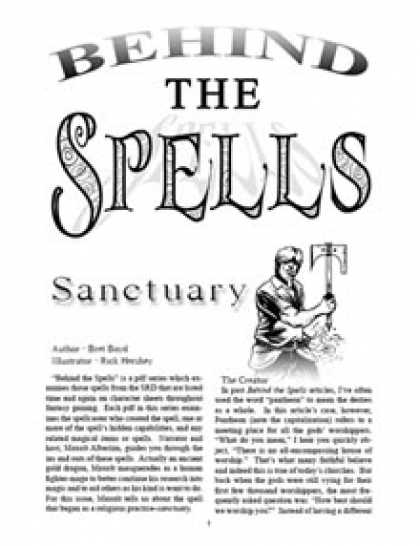 Role Playing Games - Behind the Spells: Sanctuary