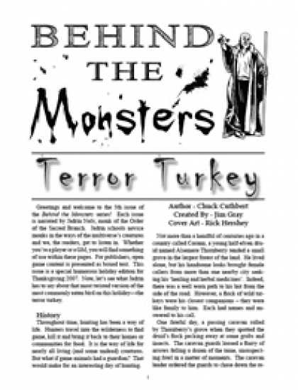 Role Playing Games - Behind the Monsters: Terror Turkey
