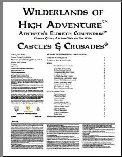 Role Playing Games - Castles & Crusades: Aendryth's Eldritch Compendium