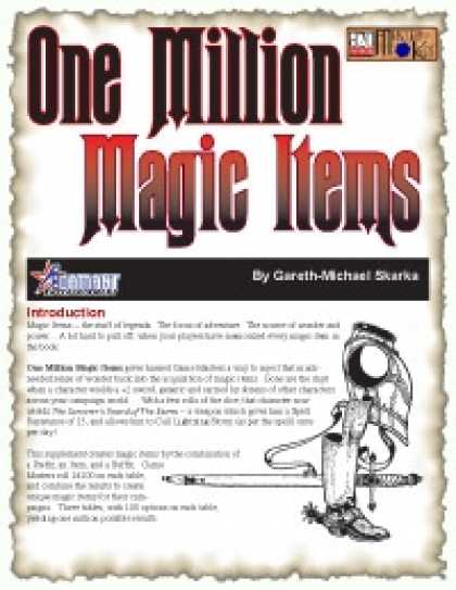 Role Playing Games - One Million Magic Items