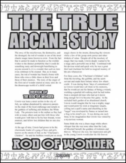Role Playing Games - The True Arcane Story: Rod of Wonder