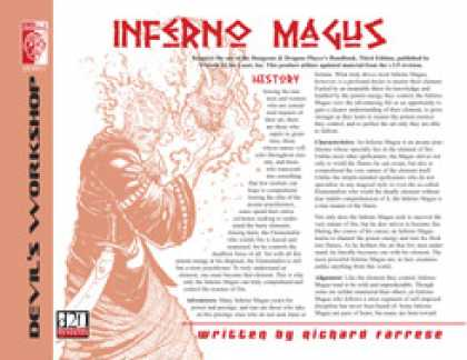 Role Playing Games - Lost Classes: Inferno Magus