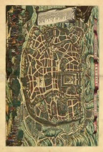 Role Playing Games - Antique Maps XXV - Jerusalem of the 1600's