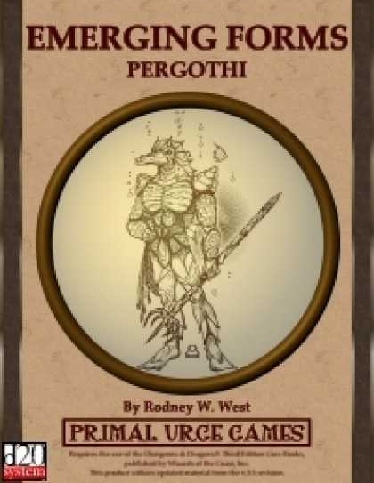 Role Playing Games - Emerging Forms - Pergothi