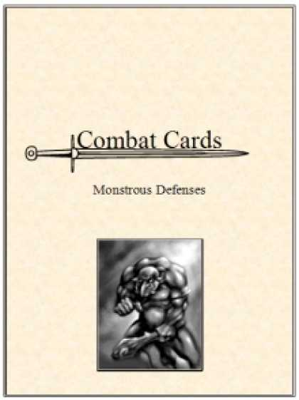 Role Playing Games - Combat Cards: Monstrous Defenses