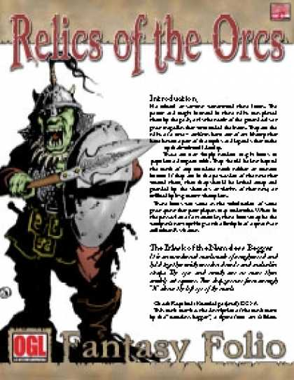 Role Playing Games - Fantasy Folio: Relics of the Orcs