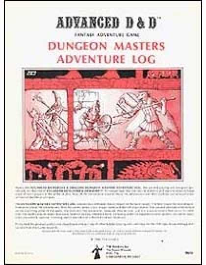 Role Playing Games - Dungeon Master's Adventure Log