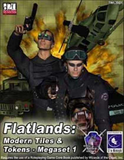 Role Playing Games - Flatlands: Modern Tiles and Tokens Megaset 1