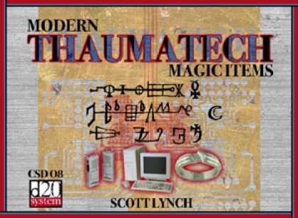 Role Playing Games - Thaumatech: Modern Magic Items