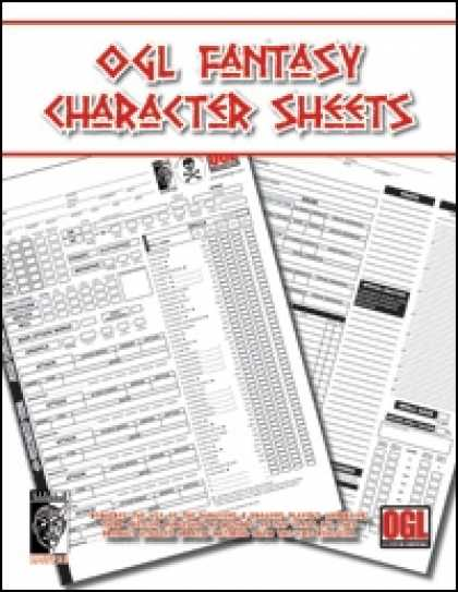Role Playing Games - OGL Fantasy Character Sheets