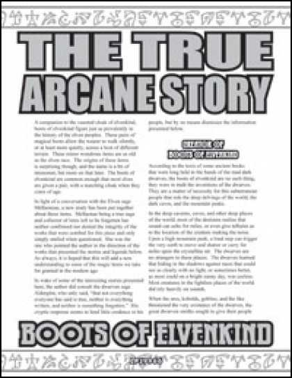 Role Playing Games - The True Arcane Story: Boots of Elvenkind
