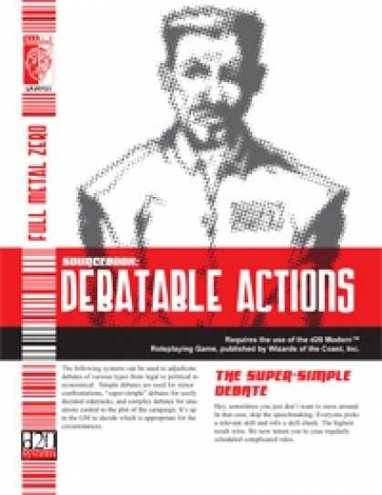Role Playing Games - Debatable Actions