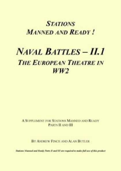 Role Playing Games - Stations Manned and Ready - Naval Battles II.1 – Europe