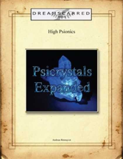 Role Playing Games - High Psionics: Psicrystals Expanded