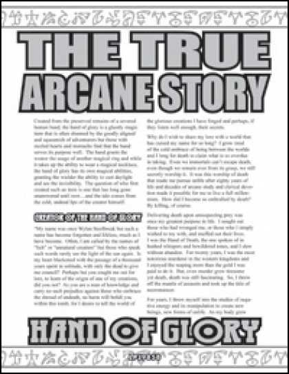 Role Playing Games - The True Arcane Story: Hand of Glory