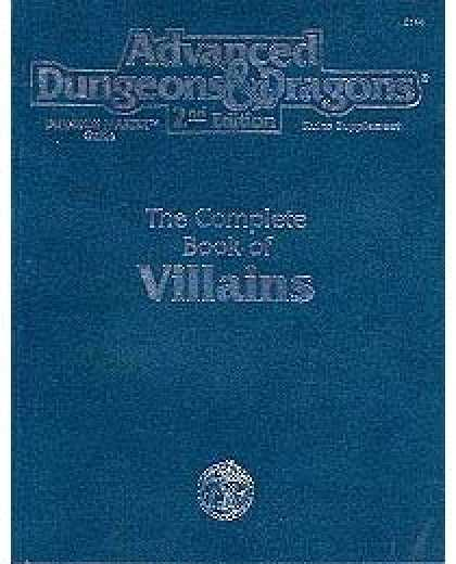 Role Playing Games - The Complete Book of Villains