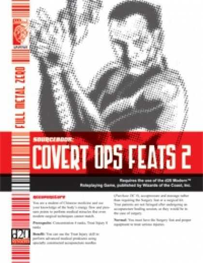 Role Playing Games - Covert Ops Feats 2