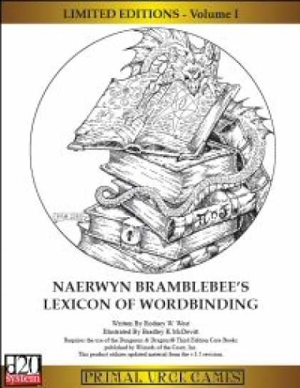 Role Playing Games - Limited Editions - Naerwyn Bramblebee's Lexicon of Wordbinding