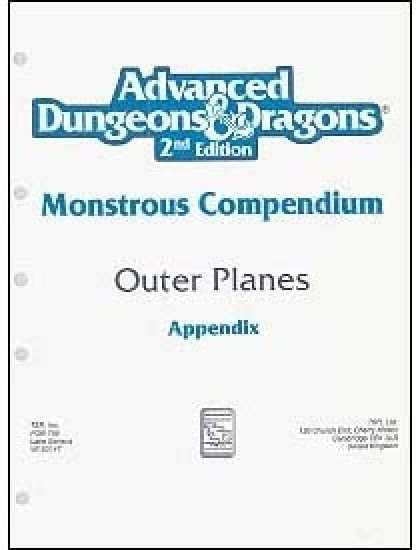 Role Playing Games - Monstrous Compendium - Outer Planes Appendix