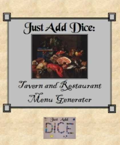 Role Playing Games - Just Add Dice: Tavern and Restaurant Menu Generator
