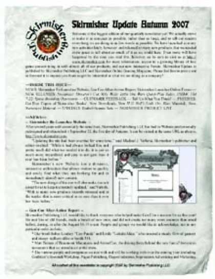 Role Playing Games - Skirmisher Update: Fall 2007