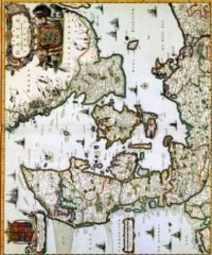 Role Playing Games - Antique Maps XII - The Kingdom of Denmark of the 1600's