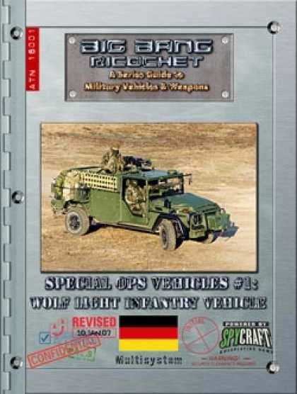 Role Playing Games - Big Bang Ricochet - Special Ops Vehicles #1