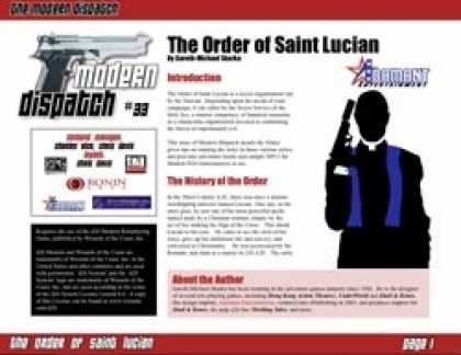 Role Playing Games - Modern Dispatch (#33): The Order of Saint Lucian