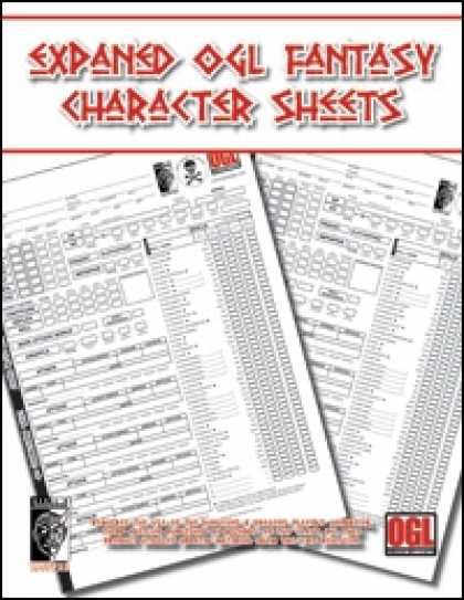 Role Playing Games - Expanded OGL Fantasy Character Sheet